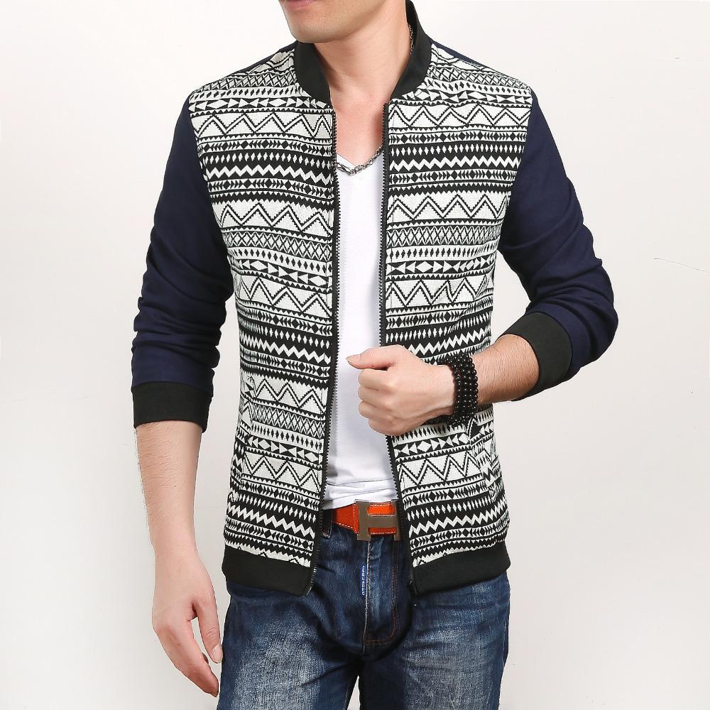 2015 New Arrival Men Jacket High Quality Stylish Gray Striped Mens Jackets and Coats Baseball Collar Slim Fit Men's Clothing Hot