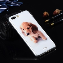 Cartoon Printing Silicone Cases For Apple iphone 7 Plus/ iphone7 Plus 5.5″ Soft Plastic Covers TPU Coque Pet Mobile Phone Bags