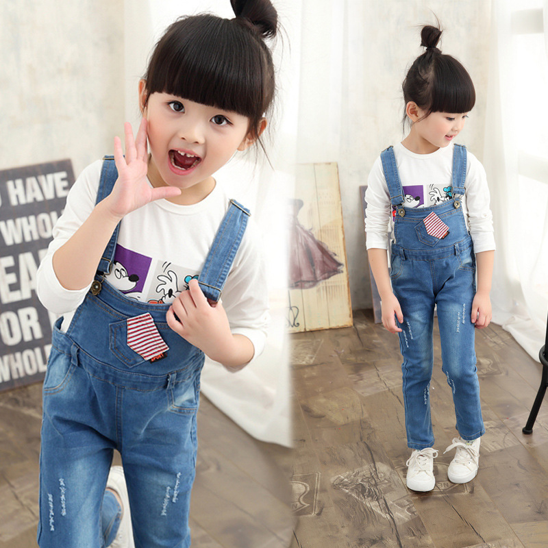 Girls Clothes Cotton Casual Children Clothing Sets Long Sleeve T-Shirt + Denim Pants 2Pcs Kids Clothes For Girls Baby Clothes<br><br>Aliexpress