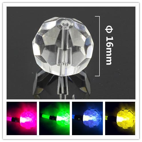200pcs/lot 16MM Pineapple Crystal Beads Fiber Optic Crystal Ending Decoration Free Shipping(China (Mainland))
