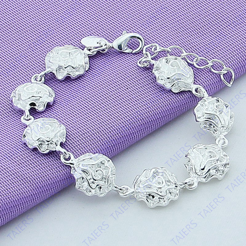 Christmas gift Bracelet Beautiful fashion jewelry Flower Foreign trade hot models Free shipping TAIERS(China (Mainland))