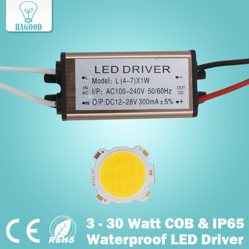 3W 5W 7W 10W 12W 15W 20W 25W 30W COB led chip board panel spotlight+Waterproof AC110-240V input LED power supply driver - Hagood Technology Co., Ltd store
