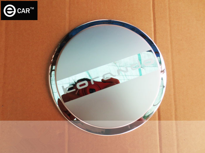 Stainless steel fuel cap tank cover for 2014 Korando,Free shipping car modification oil tank dedicated proctect decorative stick(China (Mainland))