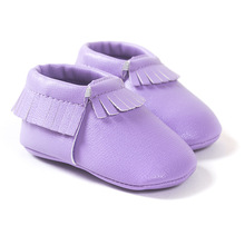 New 42-Colors Tassel Leather Baby Shoes Bling Moccasins Baby Toddler Shoes Unisex Newborn Baby Shoes First Walkers 2212(China (Mainland))