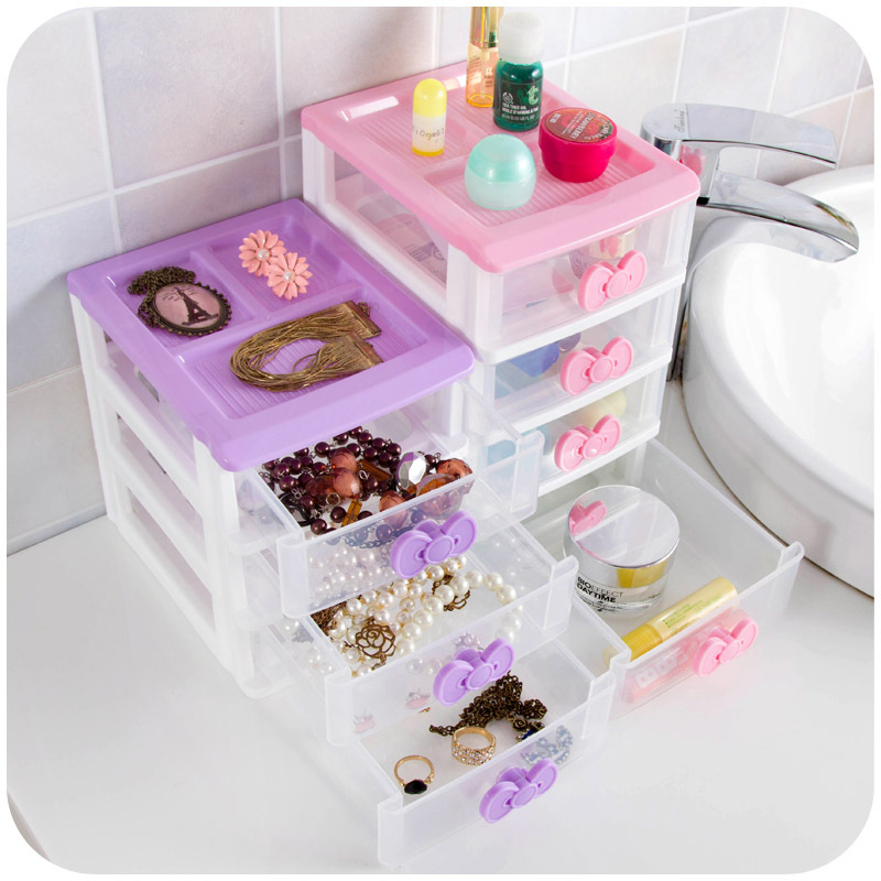 Butterfly Princess Desktop Storage Box Drawer, multi-colored small objects storage cabinets organize jewelry box(China (Mainland))