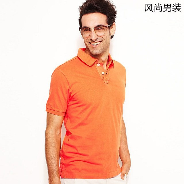 2013 NEW VANCL Men 100% Cotton Washed Out Solid Polo T-Shirt Washed Finish Tennis Tail Short Sleeves Multi-Color FREE SHIPPING