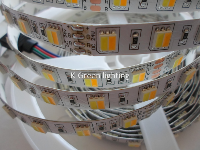 Promotion high quality 5050SMD LED strip color temperature adjustable double color CW + WW 60LED/m led