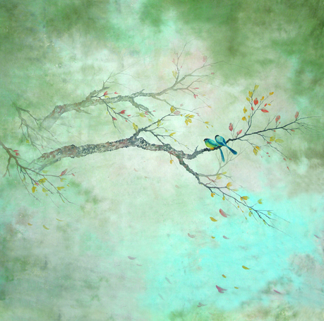 Promotion Vinyl 1x1.5m Photography Backdrop Aestheticism Branch The Birds Props Background Wedding Pictures Nice 3x5ft S 441
