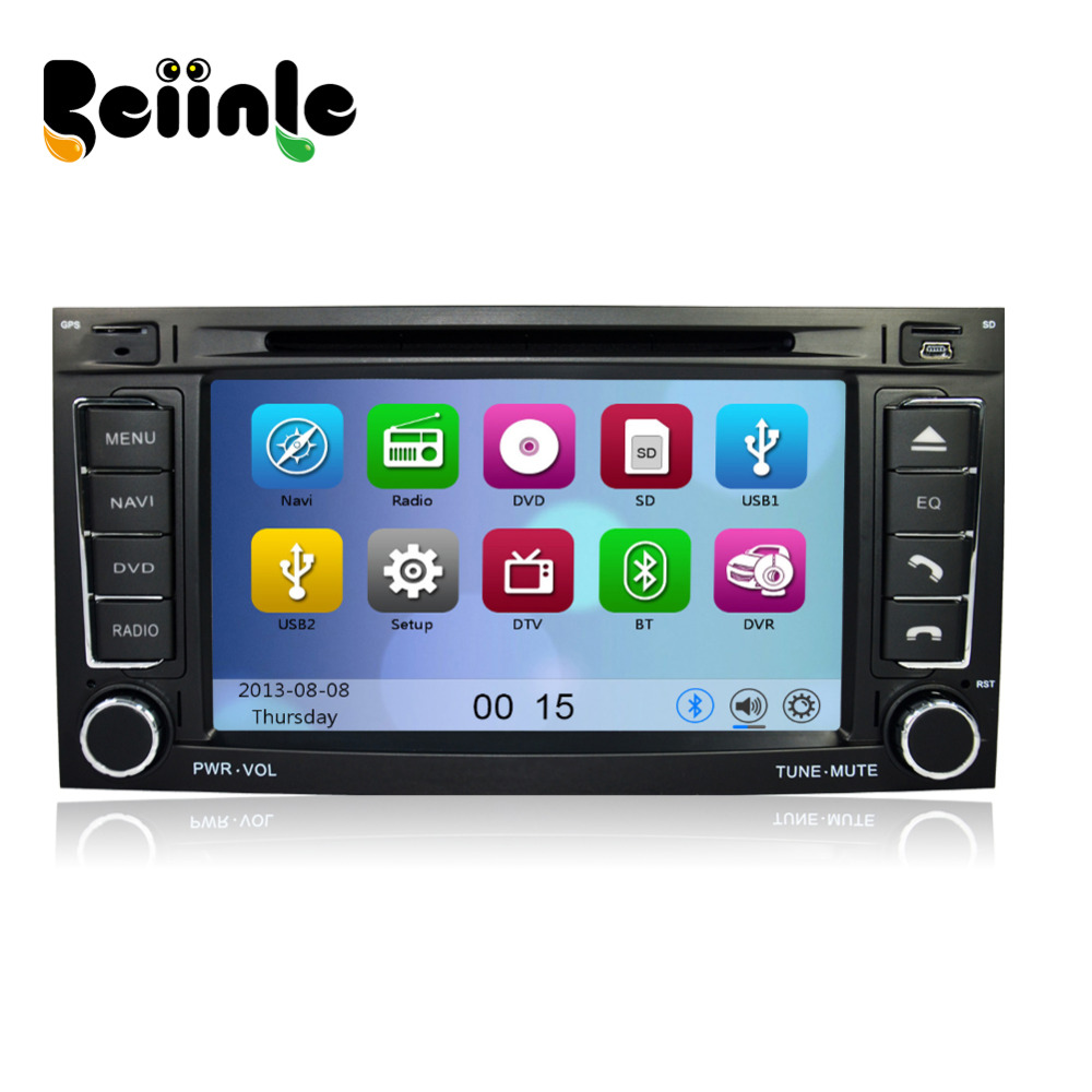 Car 2 Din DVD GPS Stereo Device Head Unit Navigation Radio Player for VW TOUAREG T5 Multivan Transporter(China (Mainland))