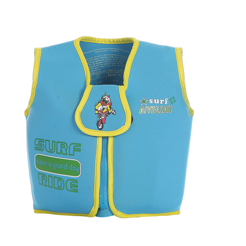 2016 Kids Swim Vest EPE Foam Neoprene Life Vest Boys Girls Blue Swimwear Swim Life Jacket for Beach Drifting Survival Jackets(China (Mainland))