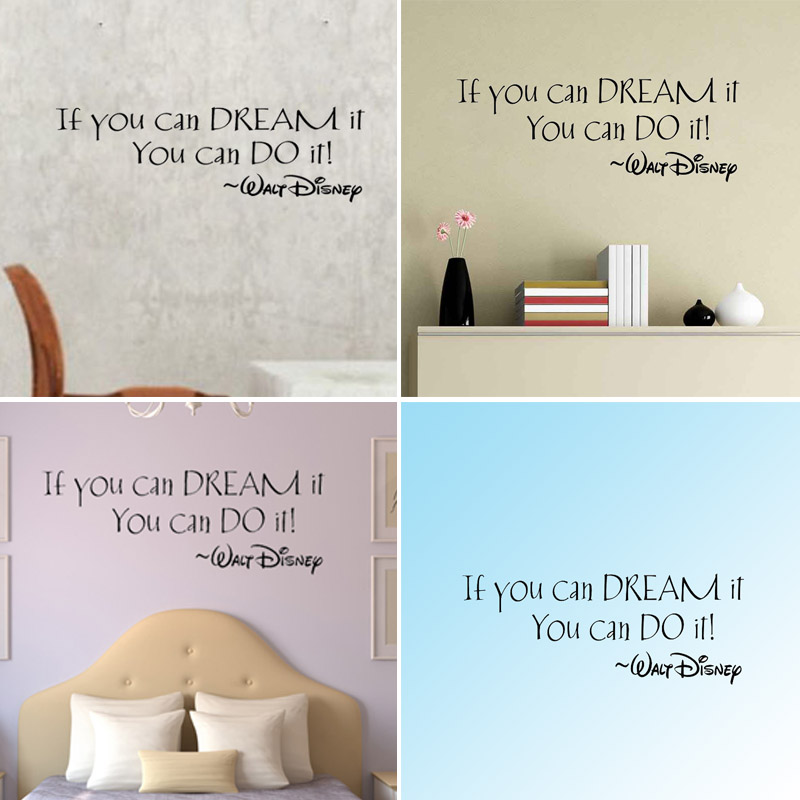 Quality If You Can Dream It Art Vinyl Quote Wall Sticker Mural Decals Living/Bed Home Decoration Removable(China (Mainland))