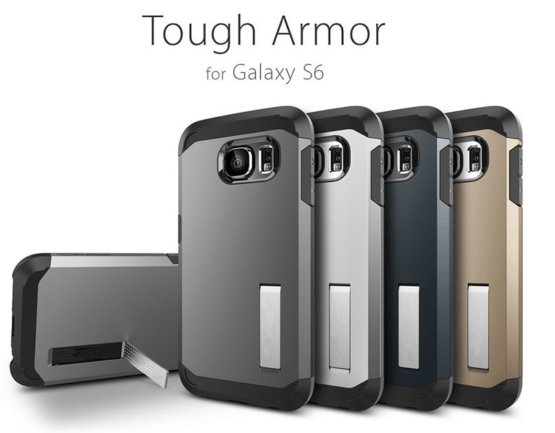 Top Quality Tough Slim Armor Cover Hard Case For Samsung Galaxy S6 & S6 Edge Mobile Phone Bag Protection Back Cases,10PCS(China (Mainland))