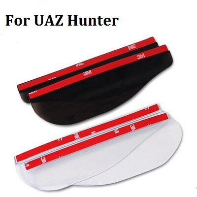 2pcs Car Styling Rearview Mirror Rain Eyebrow Shield Cover Flexible Protector PVC Accessories For UAZ Hunter(China (Mainland))