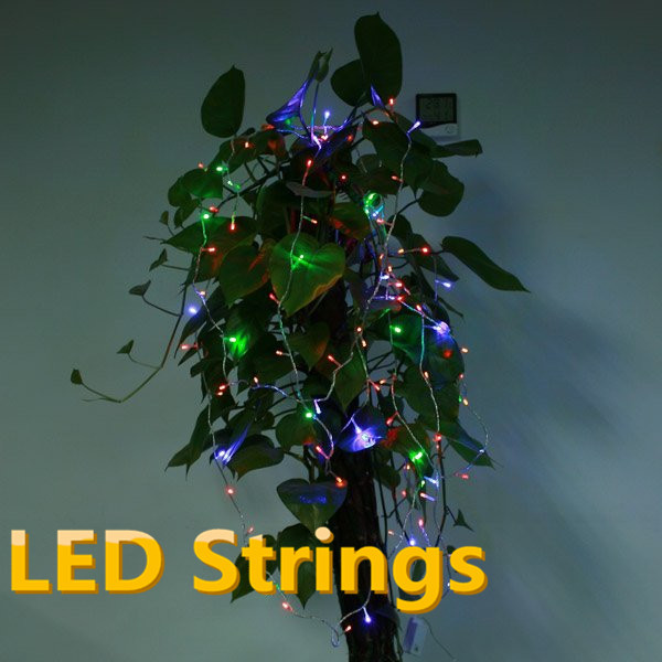Multicolour 100 LED String Light 10M 220V/110V Decoration Light for Christmas Party Tree Wedding With 8 Modes cordoes de LED(China (Mainland))