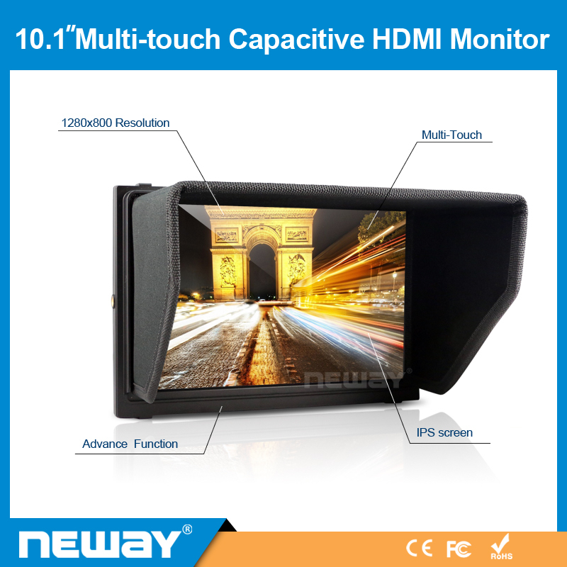 Brand New Multi-touch Capacitive Screen 10.1 Inch LCD HDMI Monitor + Free Shipping (H11-V)(China (Mainland))