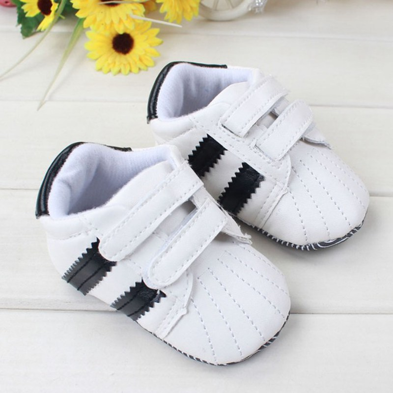 black and white velcro shoes casual slip leather toddler
