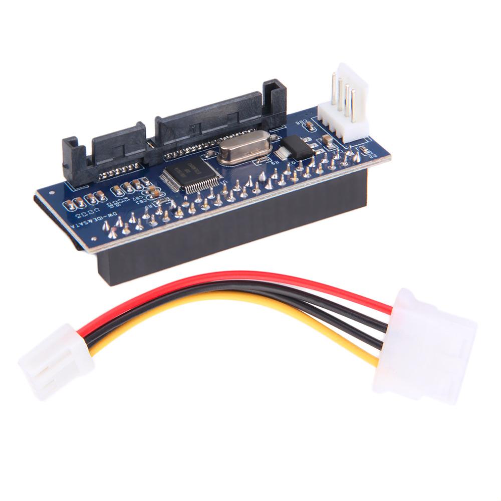 40-Pin IDE Female To SATA 7+15Pin 22-Pin Male Adapter PATA TO SATA Card(China (Mainland))