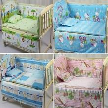 5Pcs baby crib bedding set kids bedding set 100x58cm newborn baby bed set crib bumper baby cot set baby bed bumper CP01(China (Mainland))