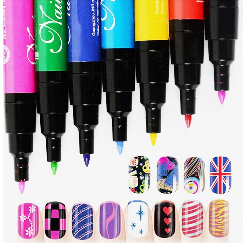 Nail Art DIY Decoration Nail Polish Pen Set 3D Design Nail Beauty Dotting Tools Paint Pens 19 Colors For Choice(China (Mainland))