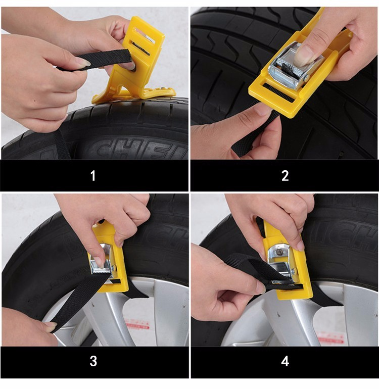 2016 Hot Car Winter Snow Tire Anti-skid Chains Thickened Beef Tendon Vehicles Wheel Antiskid 8Pcs TPU Chain Fit for165-265mTires