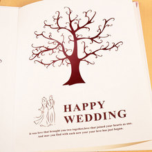 Buy Party DIY Fingerprint Canvas Wedding Fingerprint Tree Chic Guest Book Signature Wedding Party Sign E2S for $8.09 in AliExpress store
