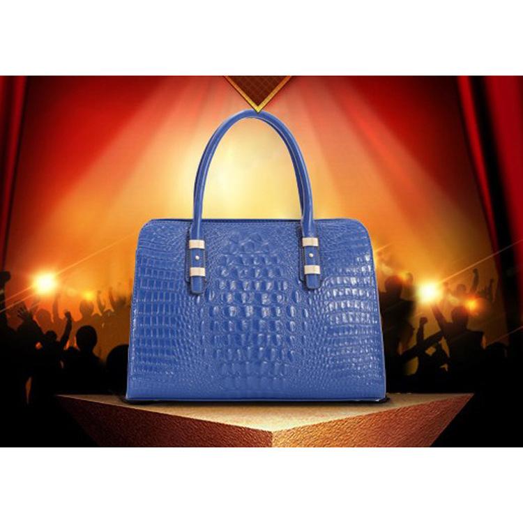 UniCalling fashion women bagsBrand Outlet 2014 Cotton Flax crocodile pattern leather handbags fashion bag handbag tide Zhendian<br><br>Aliexpress