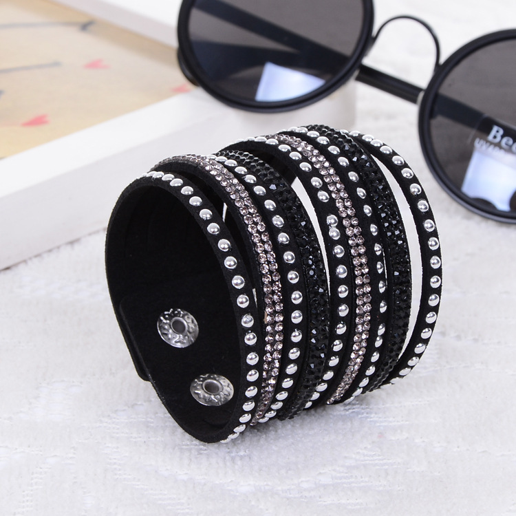 2014 New Products Sell Like Hot Cakes Fashion Charm Double Circle Multilayer Leather Bracelets Men&Bracelet women !Free Shipping(China (Mainland))