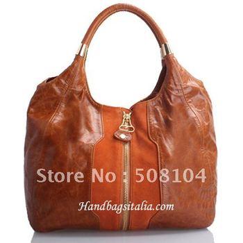 10000  Brown  Fashion Big  Leather Bag + Hight Quality , Good Seller