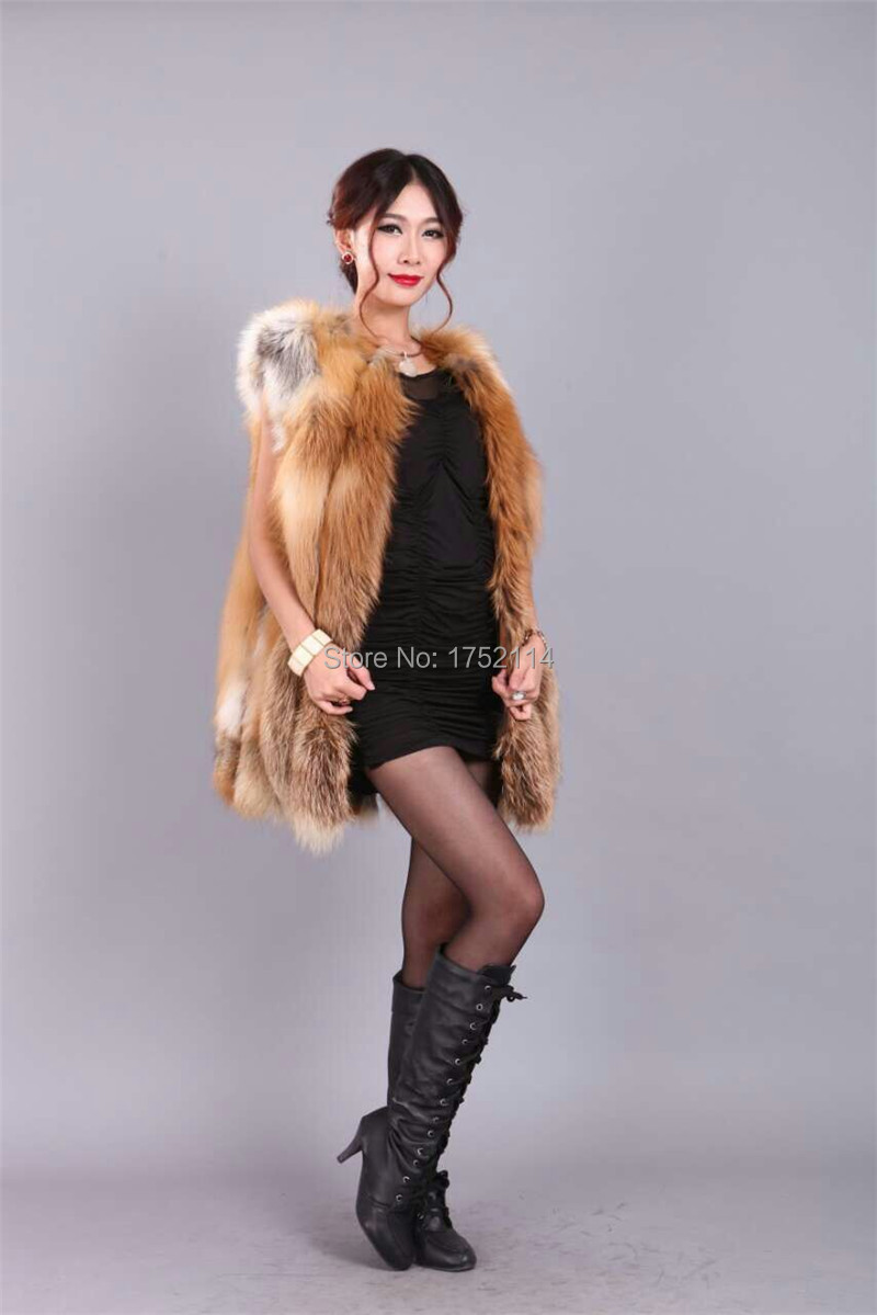 New 2015 Winter Coat Women Fashion Import Overcoat Whole Peel Fox Fur Faux Vest High-Grade Cappa Fur Coat Leisure Women Coat(China (Mainland))