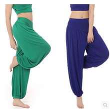 Plus Size 100%Cotton High Waist Women Harem Modal Dancing Trousers Loose Overall Wide Women Sport Tai Chi Pants Women Sweatpants(China (Mainland))