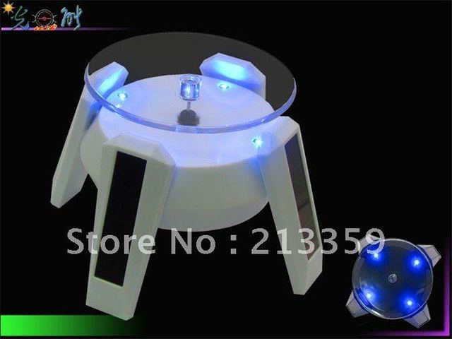 Free shipping for Solar Display Stand 360 Degree Turnable Plate+Rotary Display Base Hot!