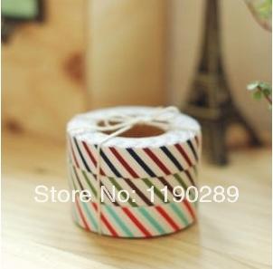 fashion tape NEW British style vertical stripes / twill fabric tape decorative fashion tape Beautiful Creative F478(China (Mainland))