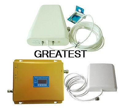 LCD Display GSM 900/2100 MHz Dual Band GSM 3G Mobile Phone Signal Booster Repeater Amplifier Double signal bar(China (Mainland))