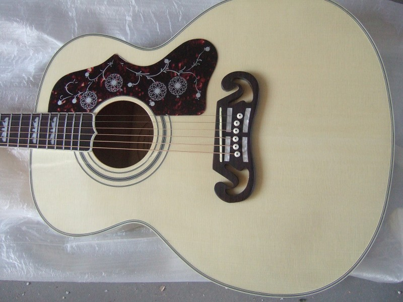 2015 Hot Sale Sale Chinese Handmade Oem Acoustic Guitar Jj200 Free Shipping Wholesale Custom Manufacturers, Large Inventory Free(China (Mainland))