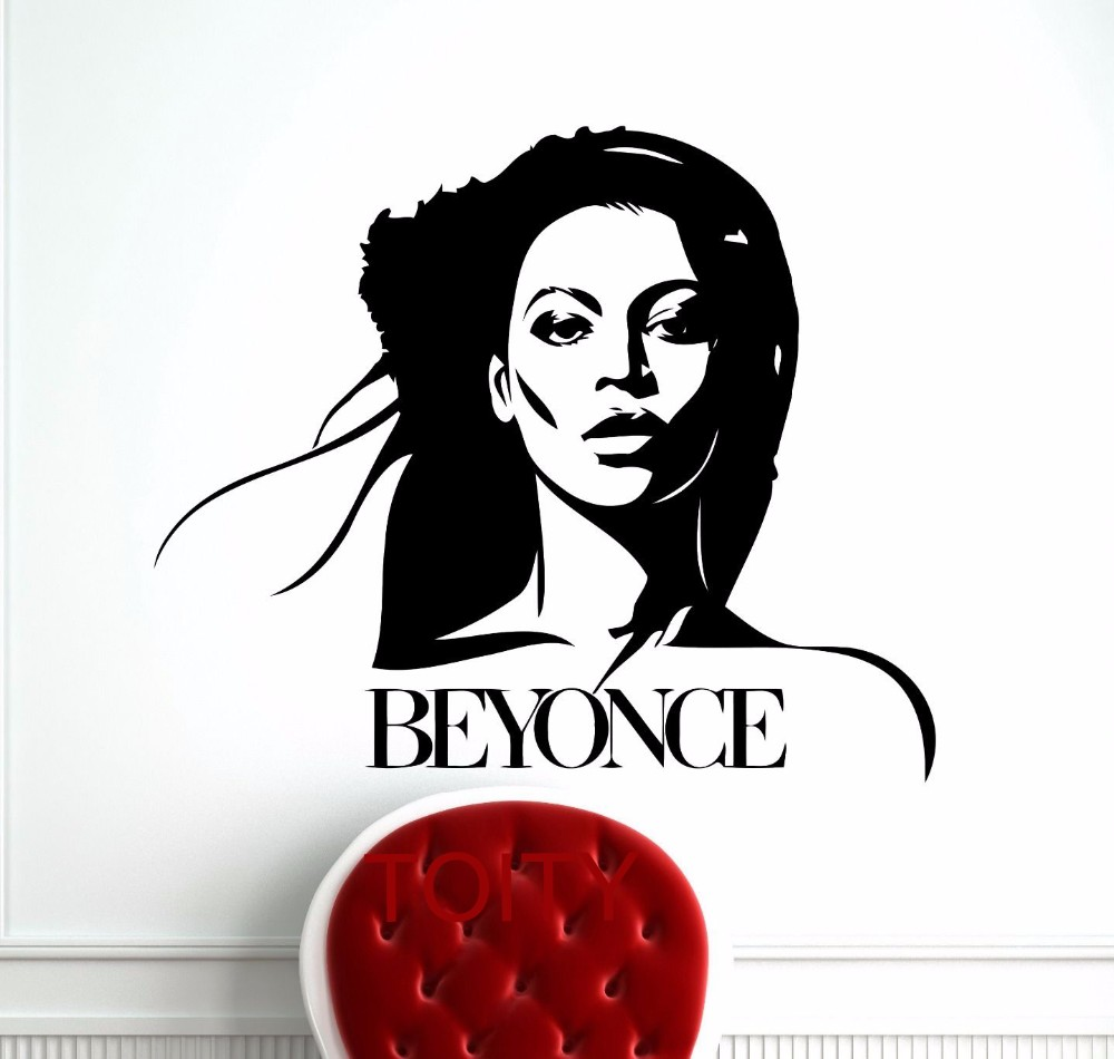 Beyonce wall sticker celebrity pop star star for Baby boy tupac mural