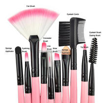 Factory low price wholesale 24pcs Cosmetic Set Kit Soft synthetic makeup brushes(China (Mainland))