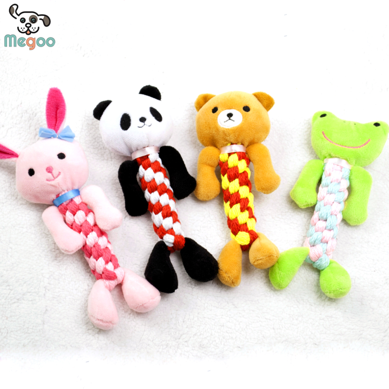 1pc Cartoon Animal Dog Toys Soft Plush Braided Puppy Chew Toys 19*8cm(China (Mainland))
