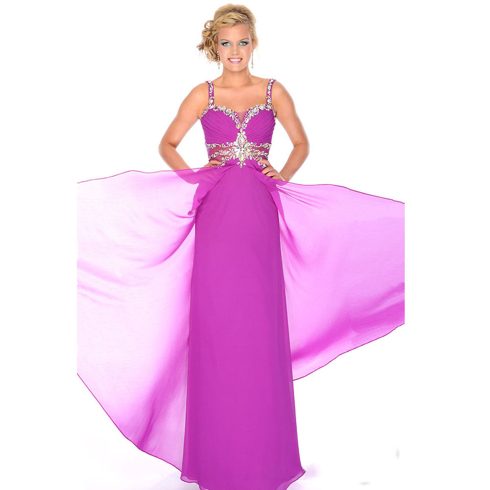 Elegant long formal evening dresses 2015 women purple for Formal long dresses for weddings