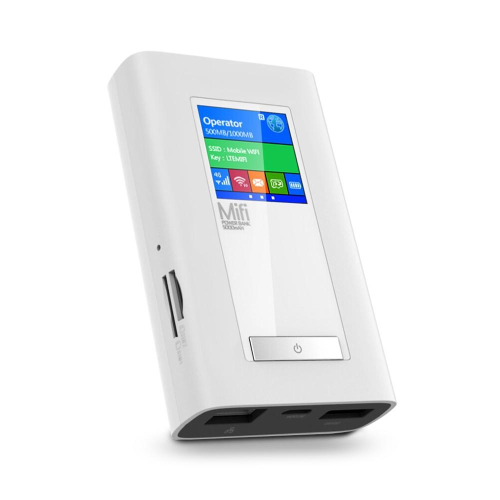 ถูก ใหม่LTE GSM 4กรัมWifiเราเตอร์ไร้สายDongle Mifiกับ5200มิลลิแอมป์ชั่วโมงธนาคารอำนาจสองช่องใส่ซิมการ์ดพอร์ตRJ45โมเด็มฟังก์ชั่นทั่วโลกปลดล็อค
