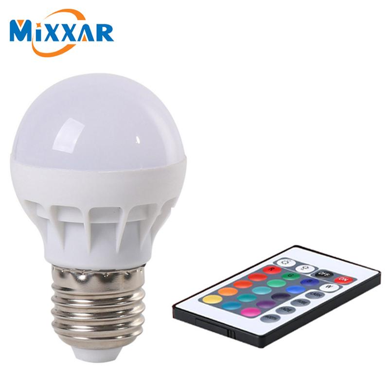zk50 LED RGB Bulb Lamp AC85-265V E27 E26 5W LED Spot Blubs Stage Night Lights Holiday RGB lighting+IR Remote Control LED Bulb(China (Mainland))