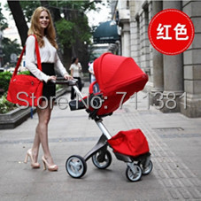 Hot Best Selling Baby Goods Luxury &amp; Beautiful Red Baby Pushchairs Stroller For 0-4 Years Baby Boys &amp; Girls Free Shipping by EMS<br><br>Aliexpress