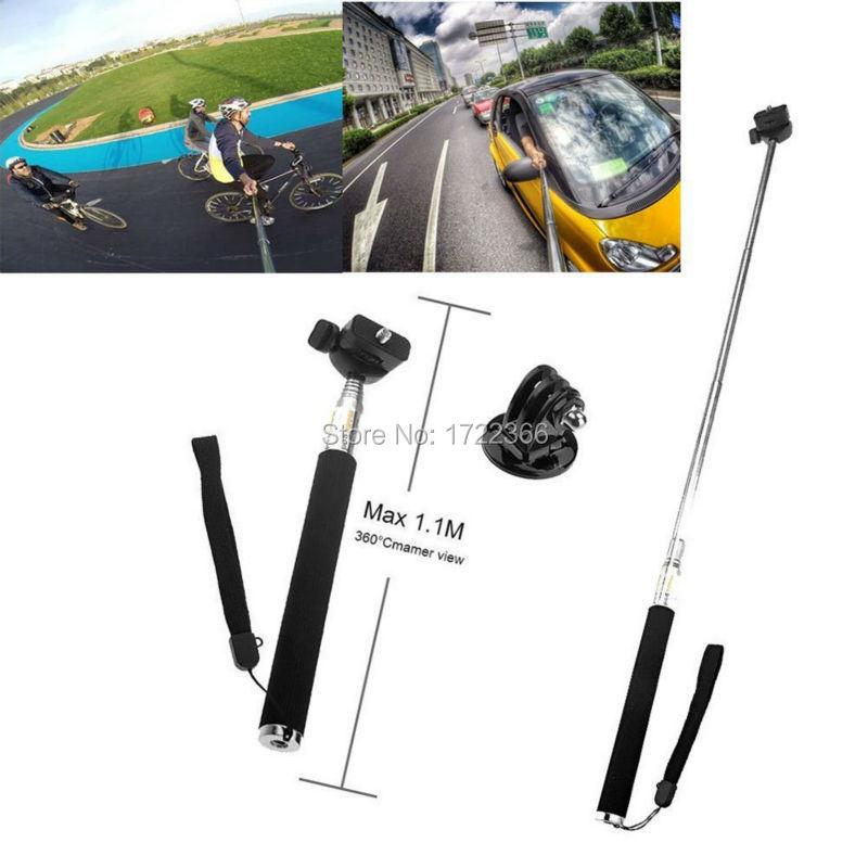 Gopro Accessories Extendable Handheld Aluminum Flexible Telescopic Monopod Tripod Holder for Go Pro HD Hero1 2 3 3+ 4 Carmera(China (Mainland))