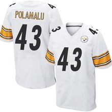 Men's #43 Troy Polamalu Elite White Jersey 100% Stitched(China (Mainland))