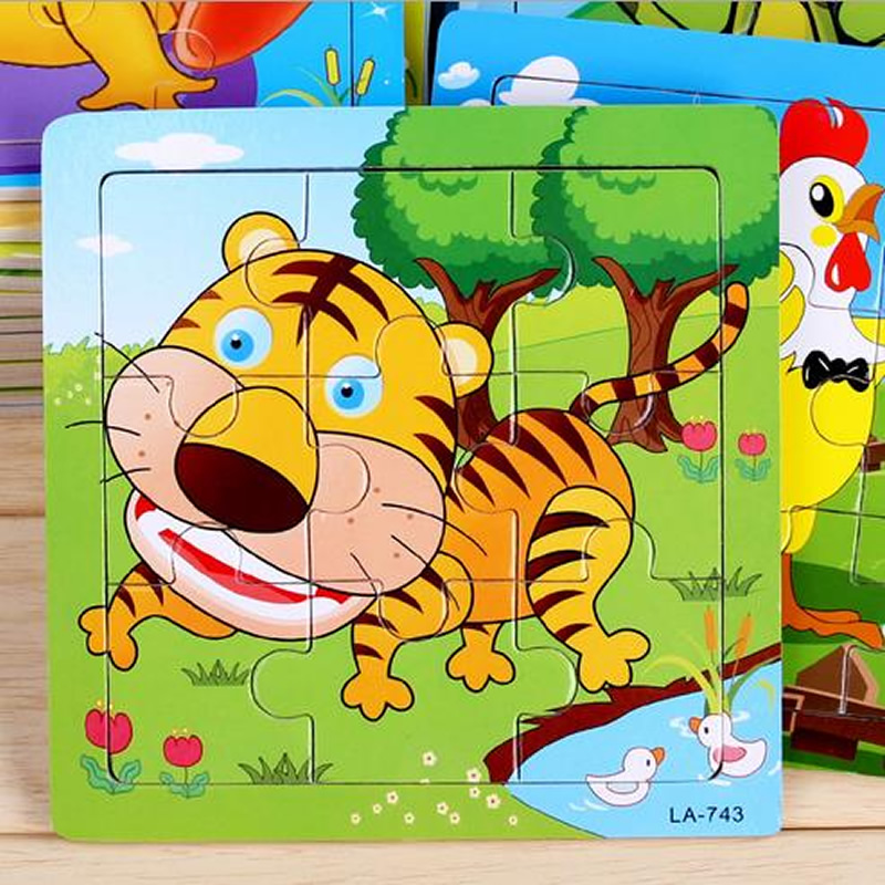 24 styles Animals Wooden 3d Puzzle Baby Educational toy Games Picture Jigsaw Puzzles Toys For Children Gifts juguetes educativos(China (Mainland))