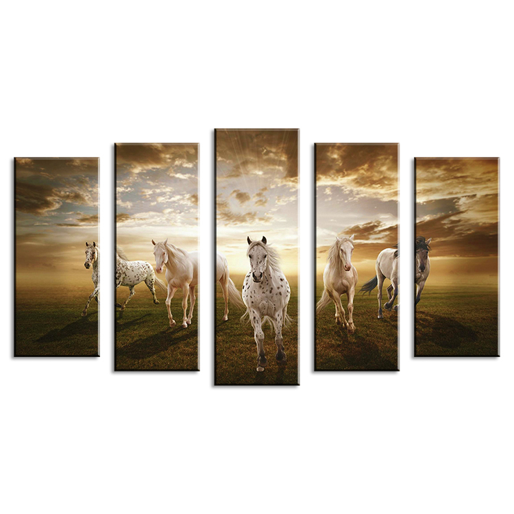 Buy 5 piece wall paintings home decorative modern horse art combination - Home decoratie moderne leven ...
