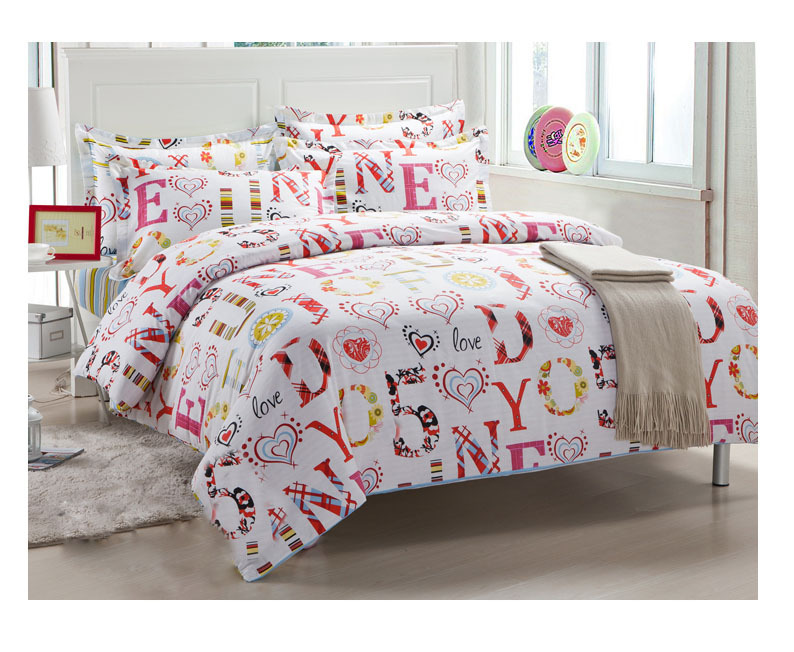Hot sell 4pcs bedding sets 100 cotton cheap comforter set for Cheap bed sets with mattress