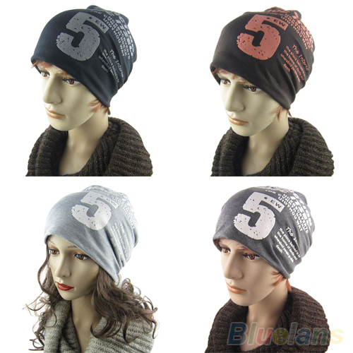 Unisex Women Men Note Five Hip hop Baggy Beanie Hat Cool Dance Cotton Blend Cap 1T51