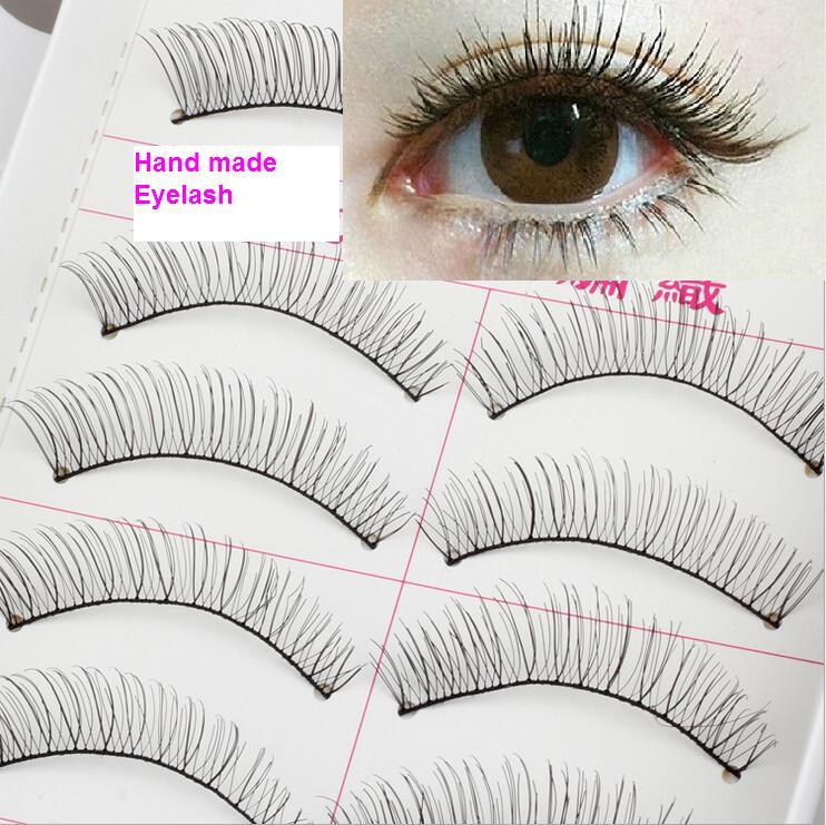 Гаджет  Winged Soft Natural long Cross Handmade Eye Lashes Makeup Extension False Eyelashes Cosmetic Makeup tool 218 MH174 None Красота и здоровье