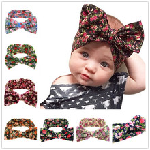 Buy Naturalwell Baby Girls big Bow Knot Elasticity Headband Cotton Children Girls Elastic Hair Band Hair Accessories 1pc HB508 for $1.06 in AliExpress store