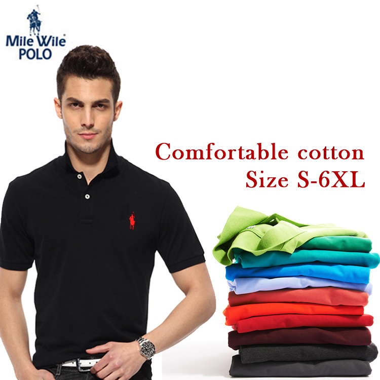 Small horse 2015 new Casual men polo Ralph shirt brand logo fashion short-sleeved Solid polo shirt top quality Cozy Men Cotton(China (Mainland))